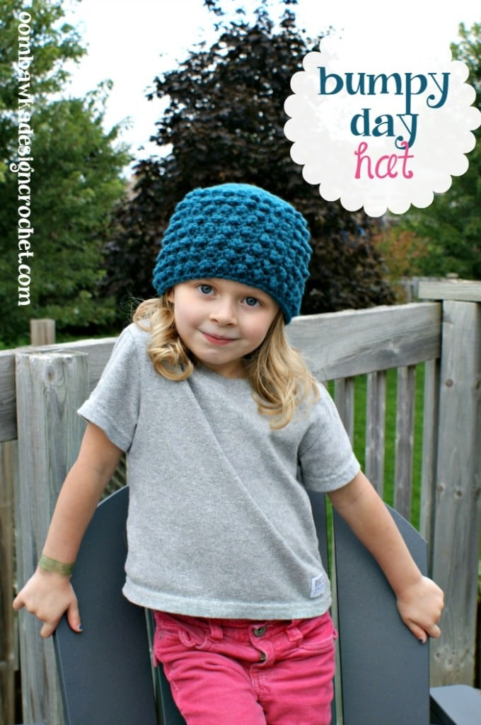 Free Bumpy Day Hat Crochet Pattern
