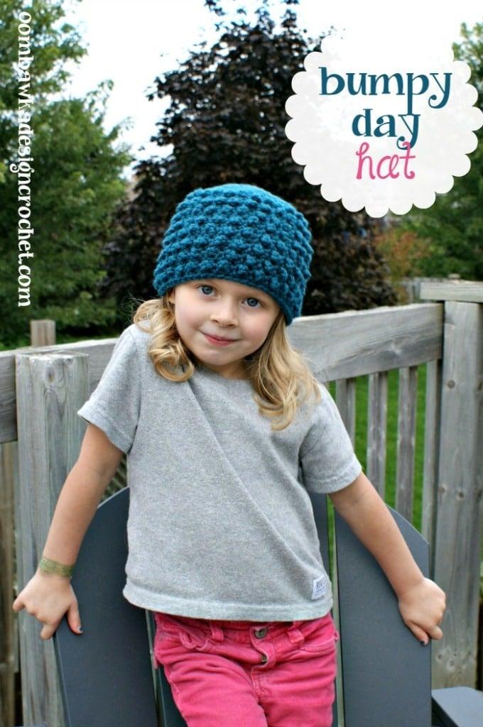 Free Bumpy Day Hat Crochet Pattern
