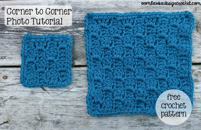 Crochet Stitches C2c : C2C Shell Stitch - Left Handed - ? Oombawka Design Crochet