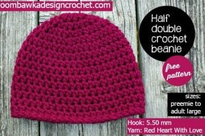 Simple Half Double Crochet Basic Beanie – My Most Requested Hat Pattern