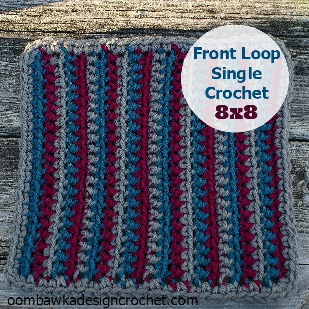 Crocheting Loops : One Sided Front Loop Single Crochet ? Oombawka Design Crochet