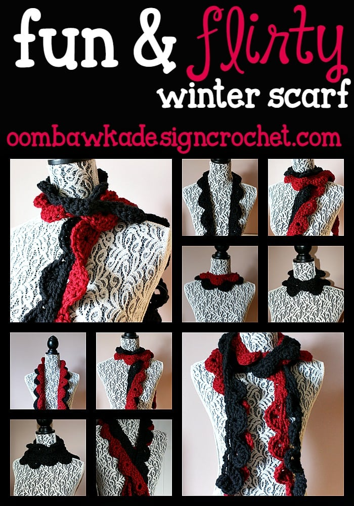 free pattern fun and flirty scarf