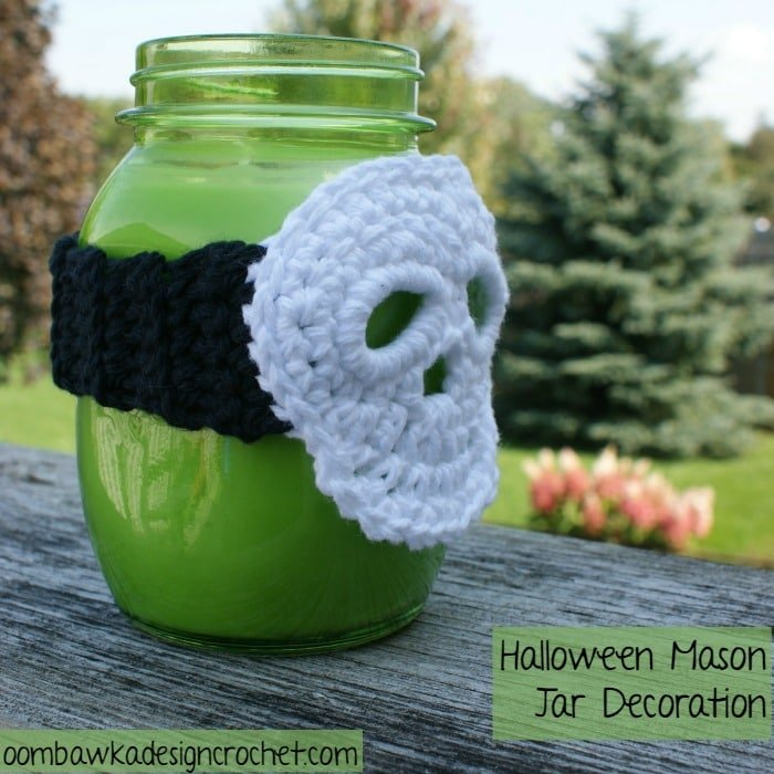 Jar decoration skull