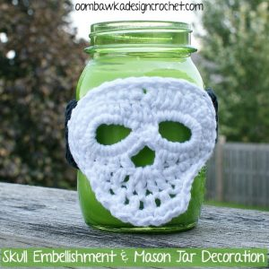 mason jar skull