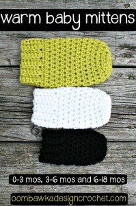 Warm Baby Mittens Pattern