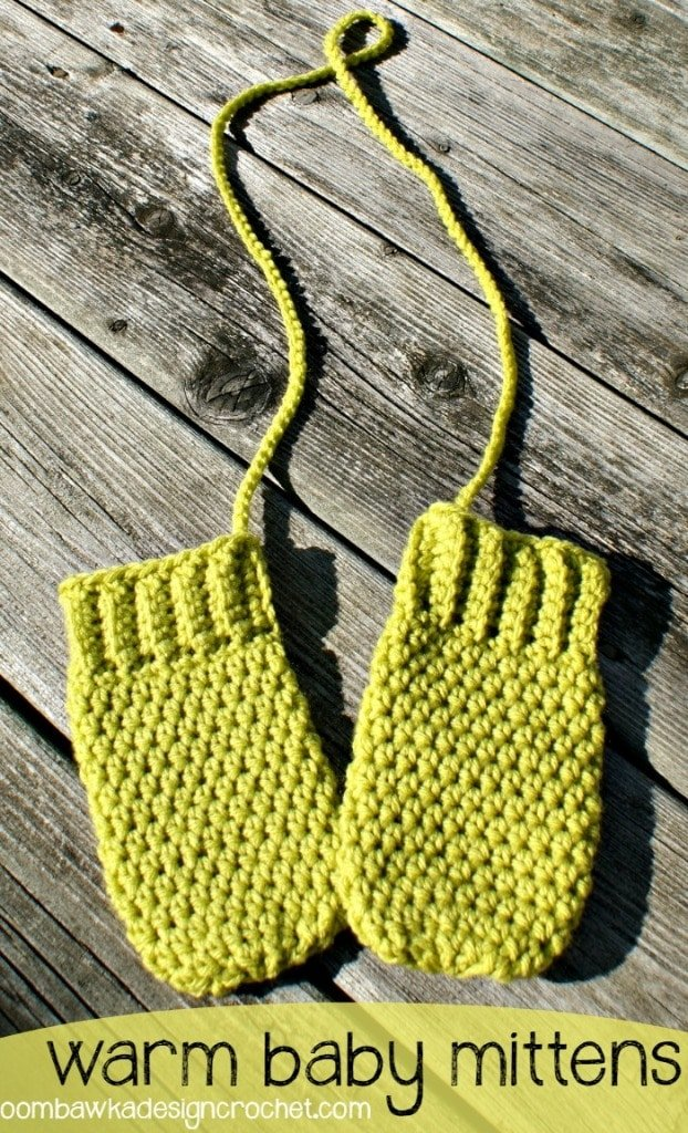 cord added to warm baby mittens