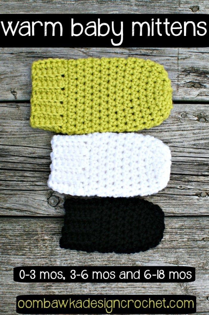 Crochet Pattern Newborn Baby Mittens : Warm Baby Mittens Oombawka Design Crochet