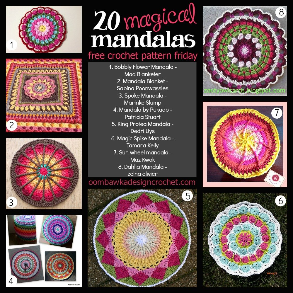 Crochet Patterns Using Mandala Yarn : 20 Free Magical Mandala Patterns ? Oombawka Design Crochet