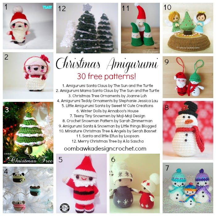 30 Free Christmas Amigurumi Patterns! Oombawka Design ...