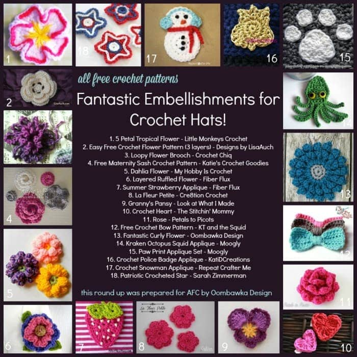 ALL FREE CROCHET Roundup Post Embellishments