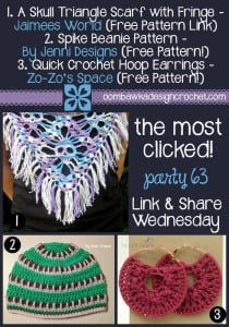 Featuring Quick Crochet Hoop Earrings