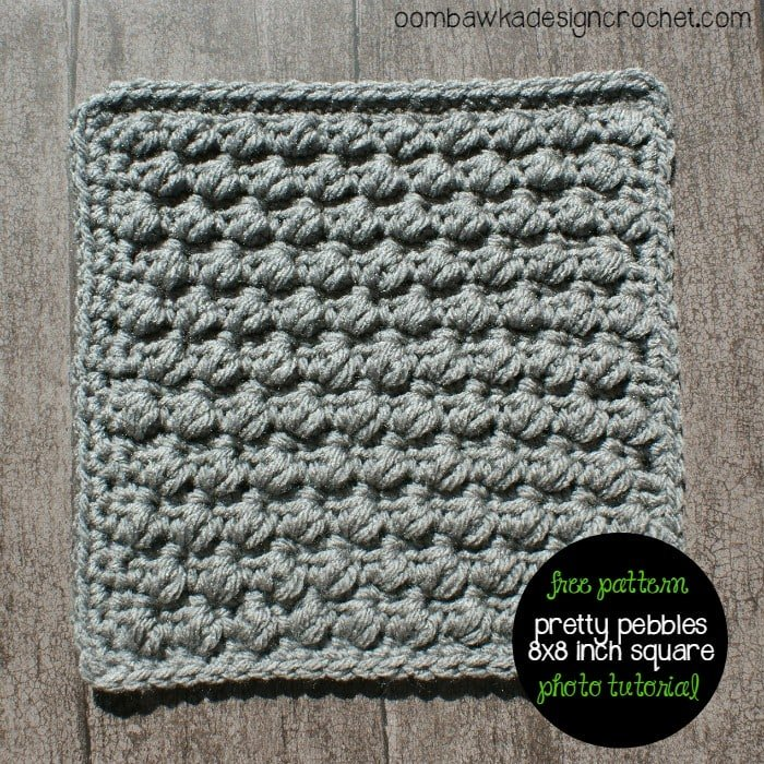 Pretty Pebbles Stitch Pattern Tutorial and Free Crochet Pattern