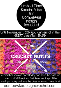 Joining Crochet Motifs! Enrol at a Fantastic Price Now!