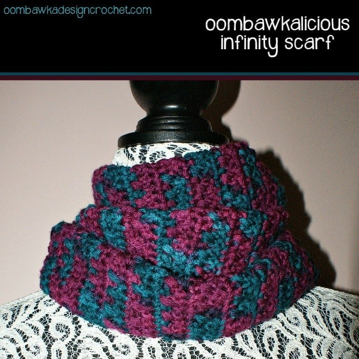 Isis Infinity Scarf Free Crochet Pattern From Red Heart Yarns : Oombawkalicious Infinity Scarf Oombawka Design Crochet