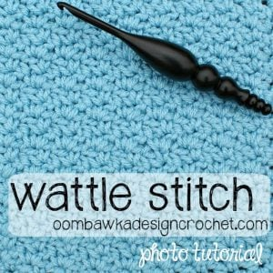 Wattle Stitch Afghan Square Pattern