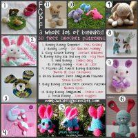 30 Free Bunny Crochet Patterns. Free Pattern Roundup. Oombawka Design.
