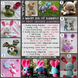 30 Free Bunny Crochet Patterns. Free Pattern Roundup. Oombawka Design.