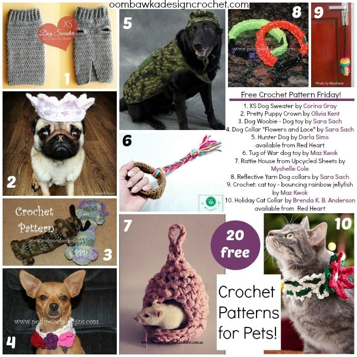 20 Free Patterns For Pets FCPF