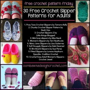 30 Free Crochet Slipper Patterns for Adults