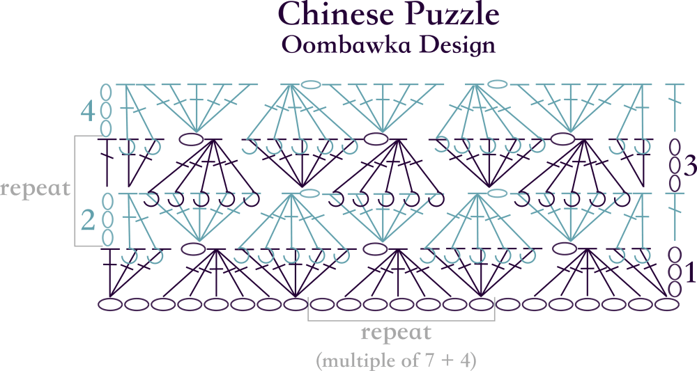 Chinese Puzzle Stitch Diagram Oombawka Design Crochet