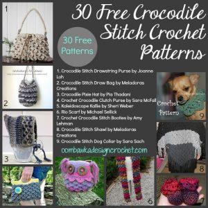 30 Free Crocodile Stitch Crochet Patterns