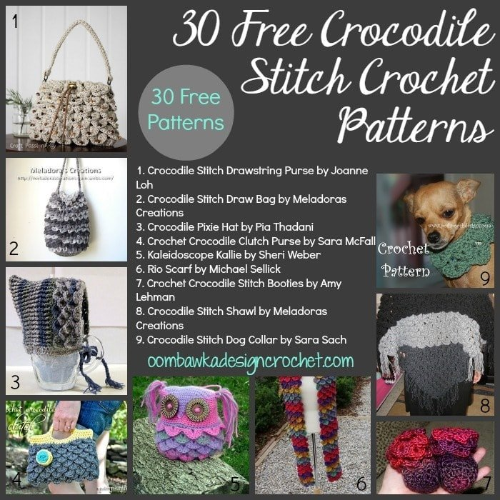 Crochet Patterns Crocodile Stitch : ... rhino pattern here crazy for free crocodile stitch crochet patterns