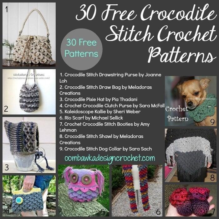 Crochet Patterns Crocodile Stitch : ... rhino pattern here crazy for free crocodile stitch crochet patterns