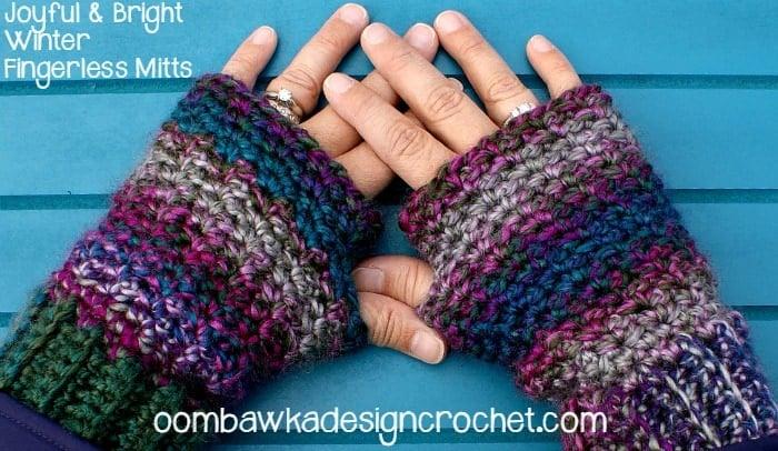 Fingerless Mitts Free Crochet Pattern