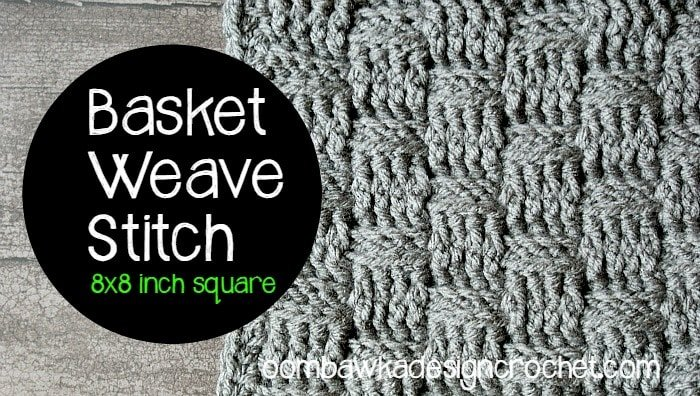 crochet basketweave stitch instructions