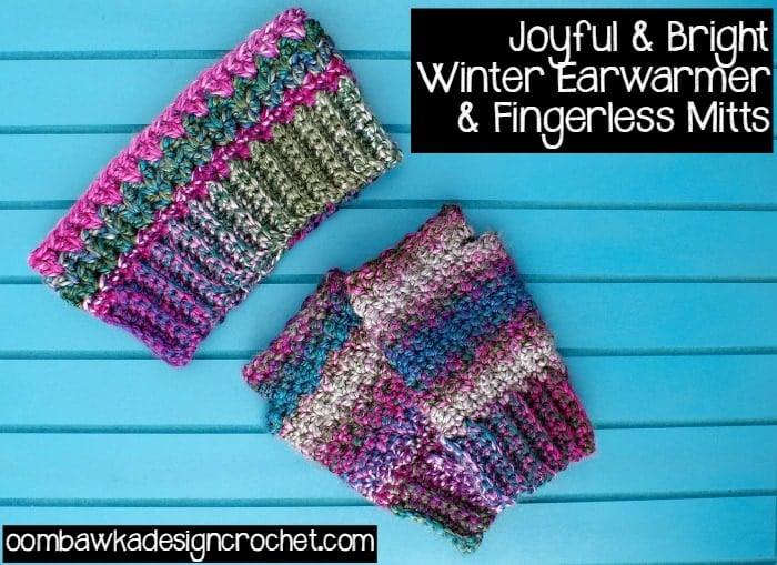Earwarmer and Fingerless Mittens Free Pattern
