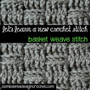 Basket Weave Stitch Tutorial and Afghan Square Pattern. Oombawka Design Crochet.