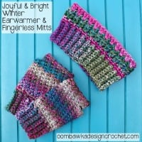 Joyful and Bright Winter Fingerless Mitts