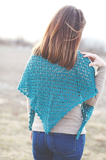 Double Diagonals Shawl