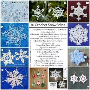 FCPF 30 free snowflake crochet patterns