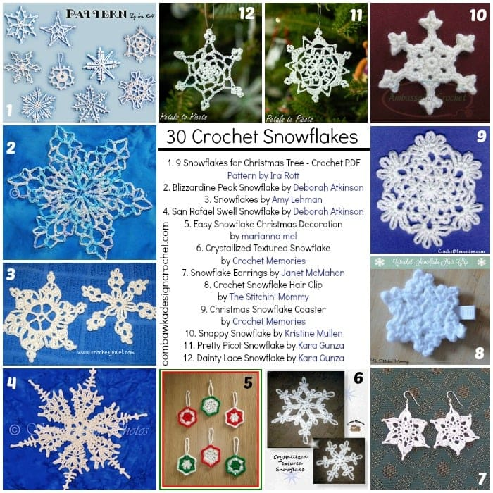30 Free Snowflakes Patterns you can Crochet! • Oombawka Design Crochet