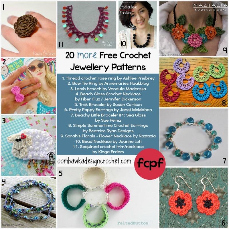 More Free Crochet Jewellery Patterns Oombawka Design Crochet