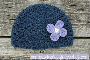 Hope Preemie Crochet Baby Hat Pattern. Oombawka Design.