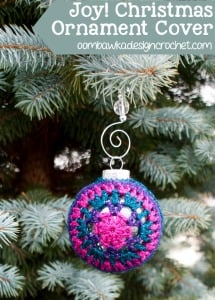 Joy! Festive Christmas Ornament Cover Pattern