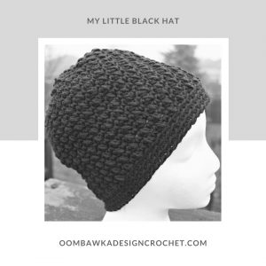 My Little Black Hat Pattern- Cotton Crochet Hat Pattern