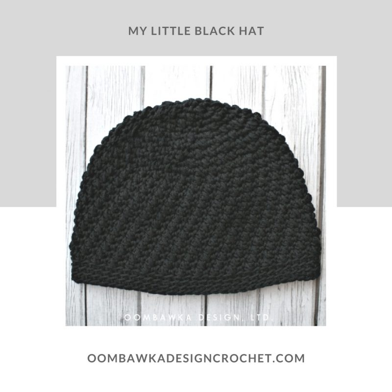 My Little Black Hat - Cotton Crochet Hat Pattern