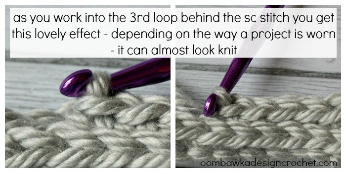 Crocheting In Third Loop : The 3rd Loop in my Single Crochet Patterns ? Oombawka Design Crochet