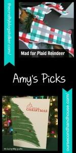 Feature. Plaid Reindeer DIY Craft. Oombawka Design.
