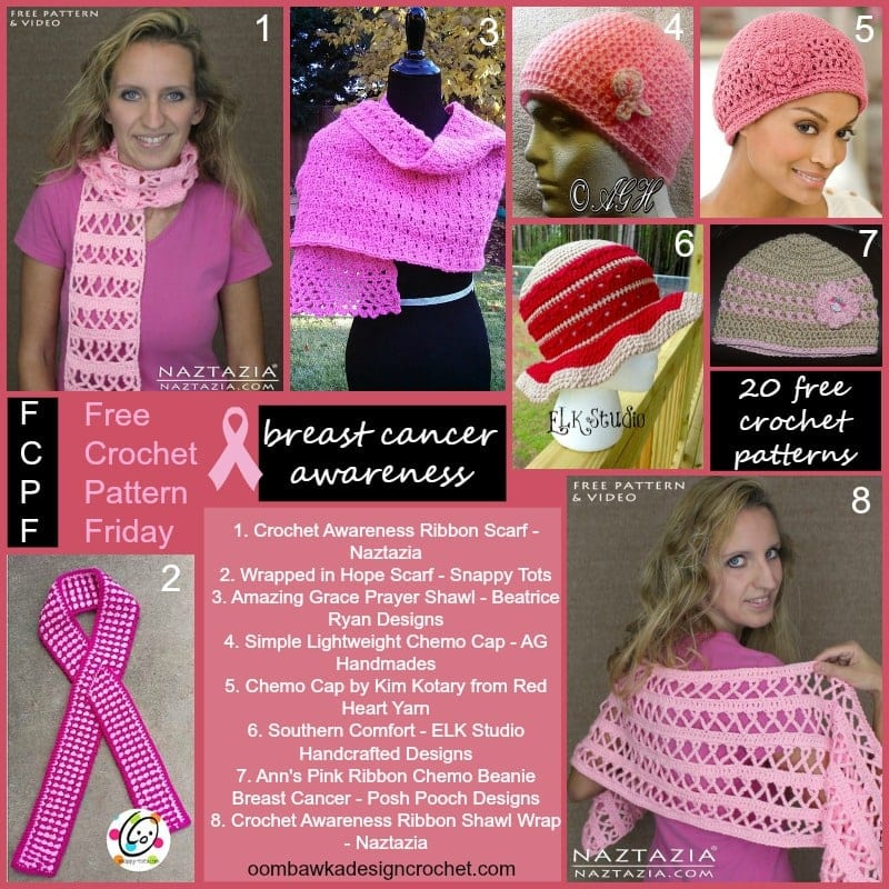 Free Crochet Pattern For Breast Cancer Awareness Scarf : Breast Cancer Awareness Crochet Patterns Oombawka Design ...