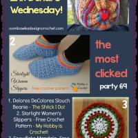 Feature. Women's Crochet Slipper Pattern. Free Pattern. Oombawka Design.