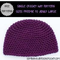Single Crochet Hat Preemie to Adult