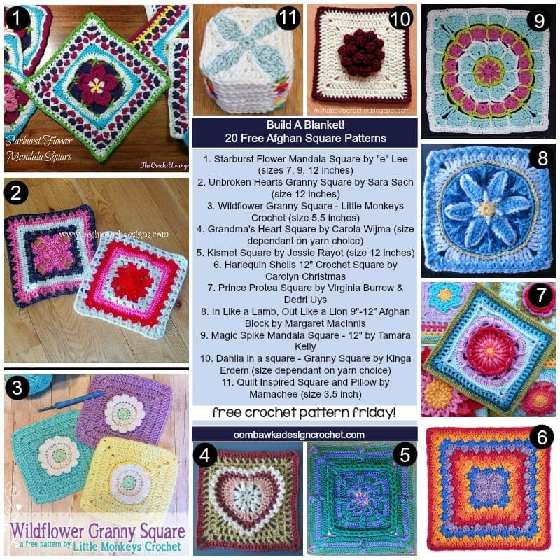 Free Crochet Pattern Friday Build a Blanket @OombawkaDesign