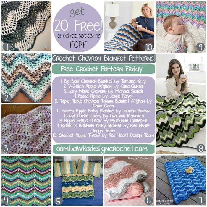 20 Free Chevron Crochet Patterns and Zigzag Crochet Patterns to make Beautiful Blankets and Afghans! #chevron #freepatterns #crochet #zigzag