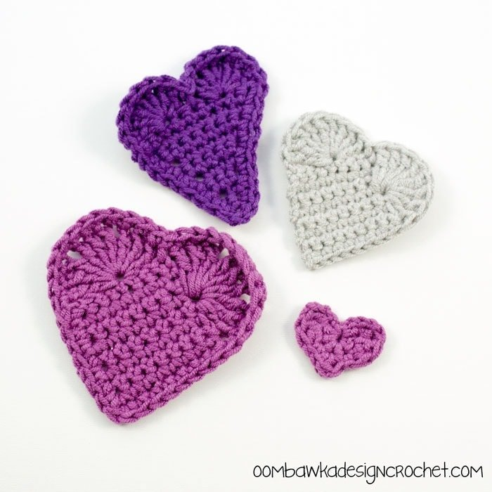 Crochet Heart Patterns by Oombawka Design