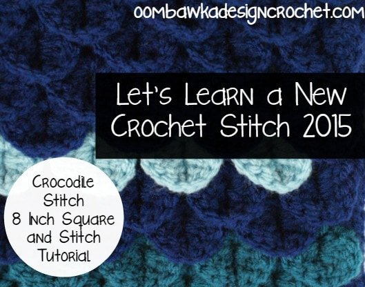 Crocodile Stitch Photo Tutorial @OombawkaDesign