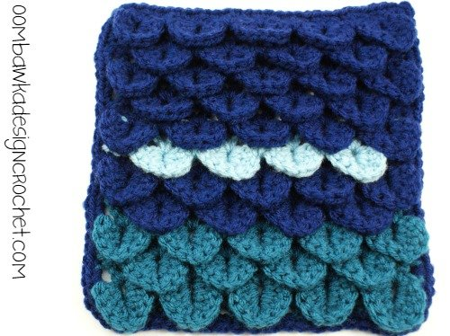 Crocodile Stitch Square @OombawkaDesign